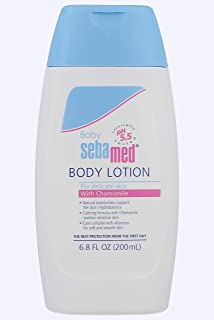Sebamed Baby Lotion pH 5.5 Ultra Mild Dermatologist Recommended Moisturizer for Sensitive Skin and Delicate Skin 6.8 Fluid Ounces (200 Milliliters)
