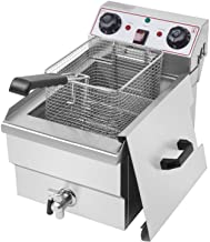 Sponsored Ad - 1700W EH101V 8.5QT/8L Stainless Steel Single Tank Deep Fryer with 8L Basket Faucet Large Capacity Eletric A...