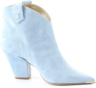 ALDO CASTAGNA Luxury Fashion Womens FEDE2LIGHTBLUE Light Blue Ankle Boots |
