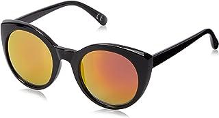 نظارات شمسية من Foster Grant للنساء Ellie Mrf Cat Eye ، مرآة أسود/فوشيا، 50.2 مم