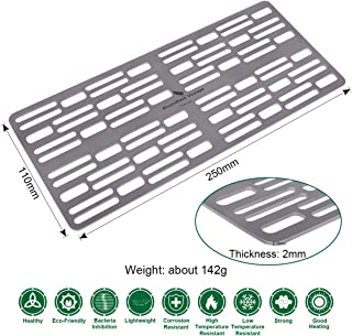Boundless Voyage Ultralight Mini Grill Plate Charcoal BBQ Grill Plate For Outdoor Barbecue Hiking Camping