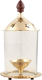 Shubhkart Indian Oil Lamp/Akhand Diya with Borosilicate Glass