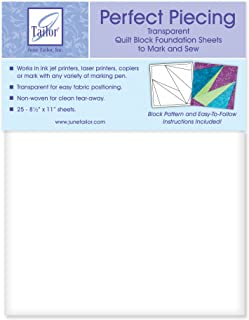 June Tailor JT426 8-1/2-Inch by 11-Inch Perfect Piecing Quilt Block Foundation Sheets, 25-Pack