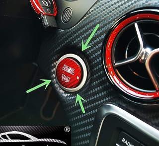 MAX Auto Carbon ® rojo Carbon Look gfk Start Stop Button Cover adecuado Mercedes Benz AMG A45 CLA45 GLA45 C63 C43 C63s E63 S63 GLC