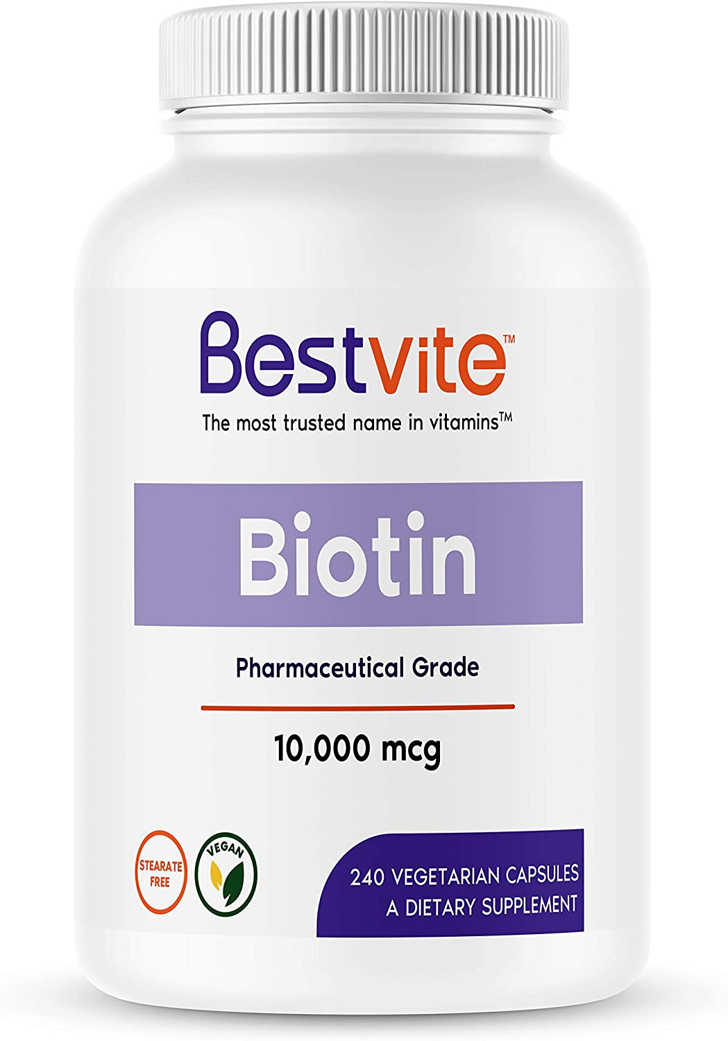 Biotin 10 Outlet ☆ Free Latest item Shipping 000mcg 240 Vegetarian A Capsules - Stearates No