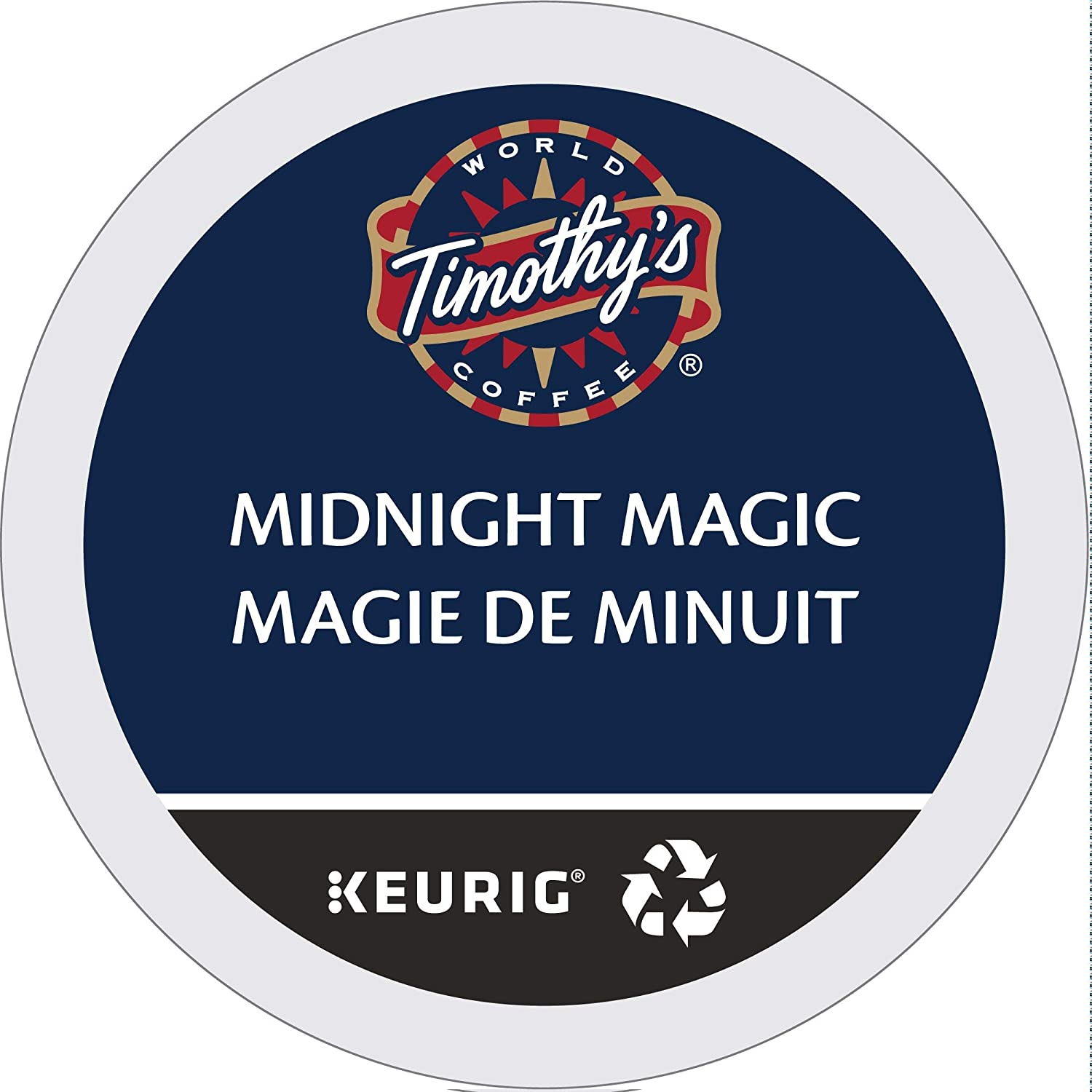 Timothy's World Coffee, Midnight Magic,  KCup Portion Pack for Keurig KCup Brewers 24Count  (Pack of 2)