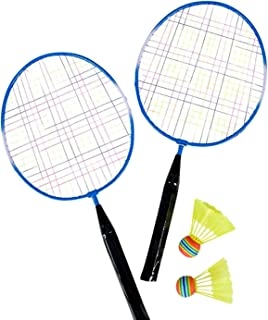 Jewels Fashion Badminton Set- Includes 2 Paddles & 2 Shuttlecocks - Requires NO Net-Perfect Over Short Distances, Beginners & The Whole Family As Well As for The Beach, Park Or Backyard