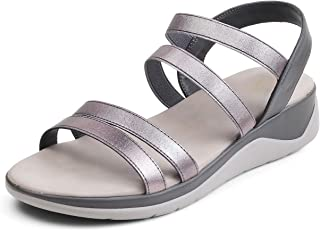 tresmode Womens Casual Soft Sole Pewter Fashion Sandals