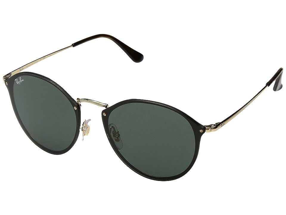 Ray-Ban Blaze Round RB3574N 59mm (Gold/Green Classic) Fashion Sunglasses