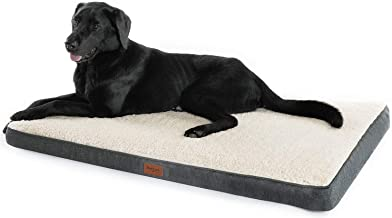 Petsure M/L/XL Orthopedic Dog Bed (30/36/44 inches) for Small, Medium, Large Pets Up to 50/75/100 lbs - Foam Dog Bed with Plush Fleece Top - Washable Cover – Grey/Denim Blue