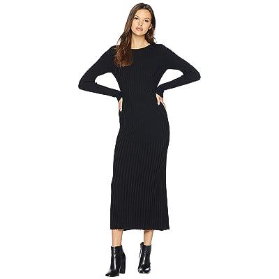 Bardot Low Back Rib Dress (Black) Women