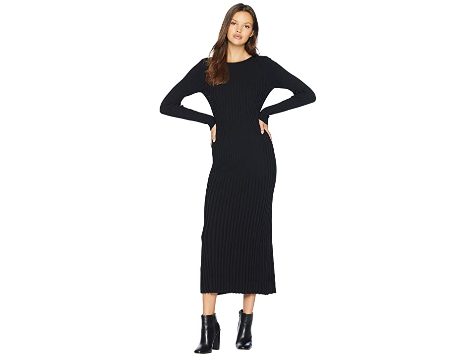 Bardot Low Back Rib Dress (Black) Women