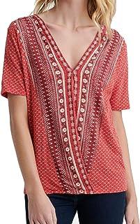 Lucky Brand womens WRAP TOP Shirt