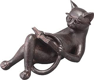 Cat figurines cat figurines antique gadgets reading cat