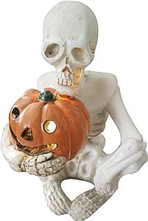 Eastyle Realistic Skeleton Skull Statue With Pumking Light Skulls Creative Tabletop decor