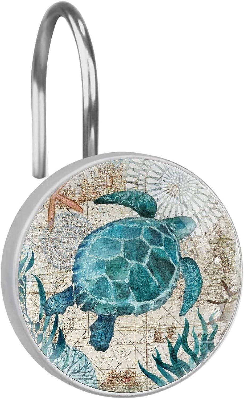 Max 69% OFF Sea Turtle Wholesale Shower Curtain Hooks Set of Steel 12 Stainless Rust-