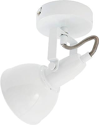 Briloner Leuchten Lampe rotative, Spot mural pivotant avec design rétro vintage – Douille E14, 40w max. – Coloris blanc