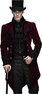 Devil Fashion Men Gothic Vintage Double-Breasted Tailcoat Masquerade Party Jacket