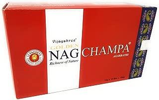 Golden Nag Champa Agarbathi Palos Incienso, Madera,, 22 x 13 x 8 cm