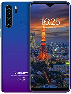 Blackview A80Pro スマートフォン SIMフリー スマホ 本体 RAM4GB + ROM64GB 大画面6.49インチ 1300万画素 Android 10 格安 携帯電話 ブルー