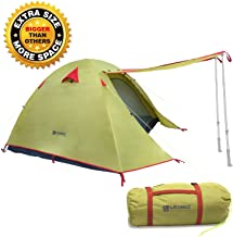 Weanas Professional Backpacking Tent 2 3 4 Person 3 Season Weatherproof Double Layer Large Space Aluminum Rod for Outdoor Family Camping Hunting Hiking Adventure Travel