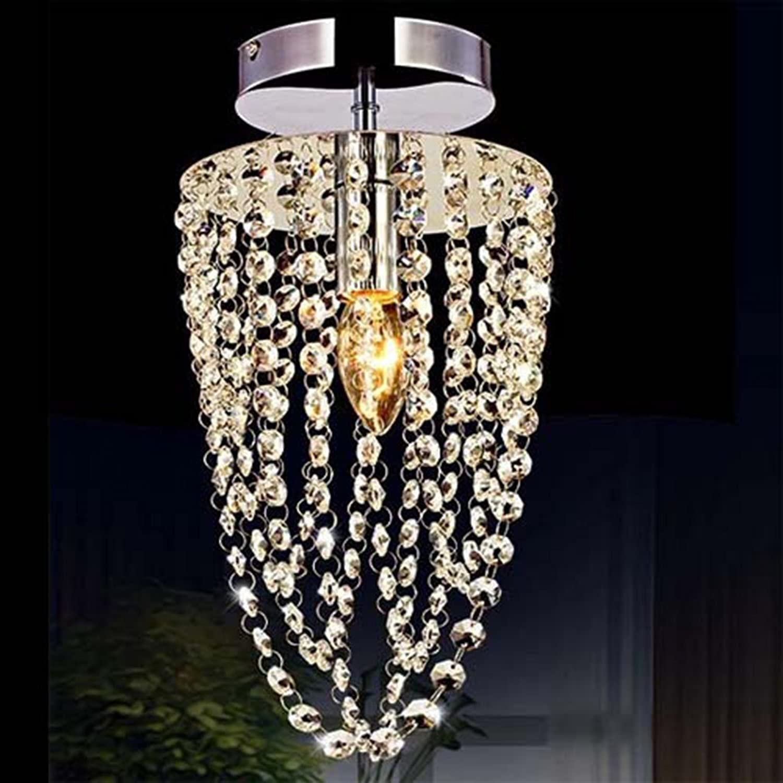 Moderne K 9 Kronleuchter Aus Kristall, Schlafzimmer Led Deckenleuchte Transparenter Kristall Wohnzimmer Beleuchtung Moderne Crystal Light Restaurant Kronleuchter Gang Beleuchtung (Gre  16  35 Cm)