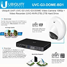 Ubiquiti UniFi UVC-G3-DOME Video Camera 1080p + Infrared +UVC-NVR-2TB Video Recorder 2TB Hard Drive