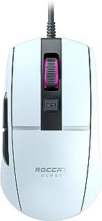 Roccat Burst   Extrem leichte Optical Core Gaming Maus (hohe Präzision, Optiksensor 8.500 Dpi, 68g leicht, Designt in Deutschland), weiß
