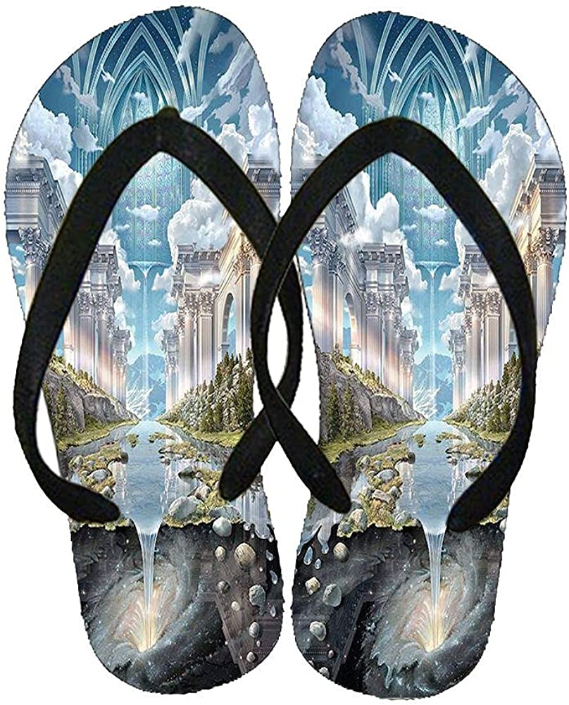 Compatible For Slippers Beautify Silicone Guy With Water Flow Waterfall