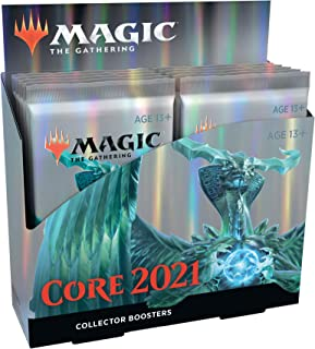 Magic: The Gathering Core Set 2021 (M21) Collector Booster Box | 12 Packs | Min. 4 Rares Per Pack | Latest Set, Model Numb...