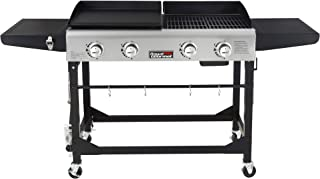 BIG HORN OUTDOORS Portable Gas Grill Propane Tabletop Grill 3 Burners Gas Griddle 23 Inch Flat Top Grill for Outdoor Cooking While Party Picnicking Or Camping