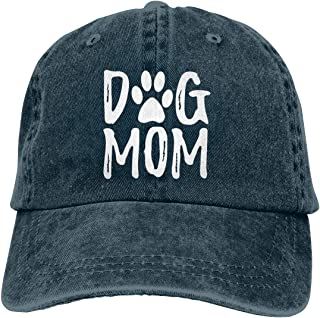 OASCUVER Denim Fabric Adjustable Dog Mom Hat Fashion Distressed Baseball Cap for Women