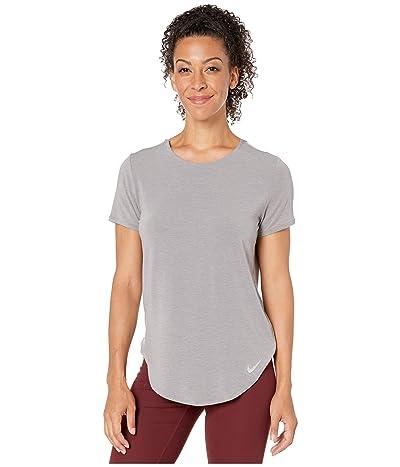 Nike Top Short Sleeve Twist (Gunsmoke/Heather/Reflective Silver) Women