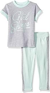 Reebok Girls' Short Sleeve Shine Bright T-Shirt and Legging Set
