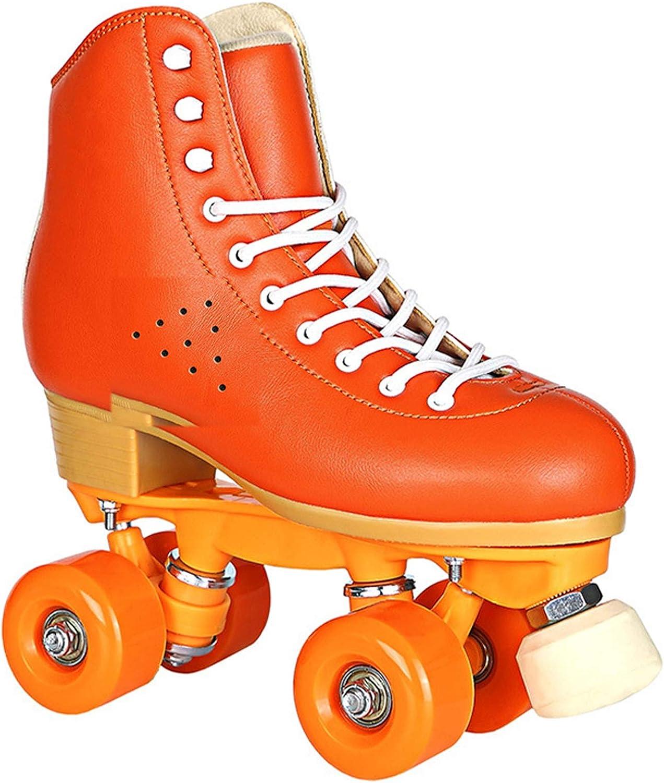 Leather Roller Skates Women Double Men 1 year warranty Sk Lady Luxury goods Line Adult