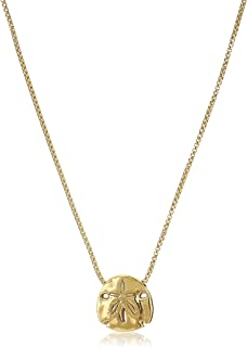 Alex and Ani Women's Sand Dollar 18 inch Adjustable Necklace, 14kt Gold Plated