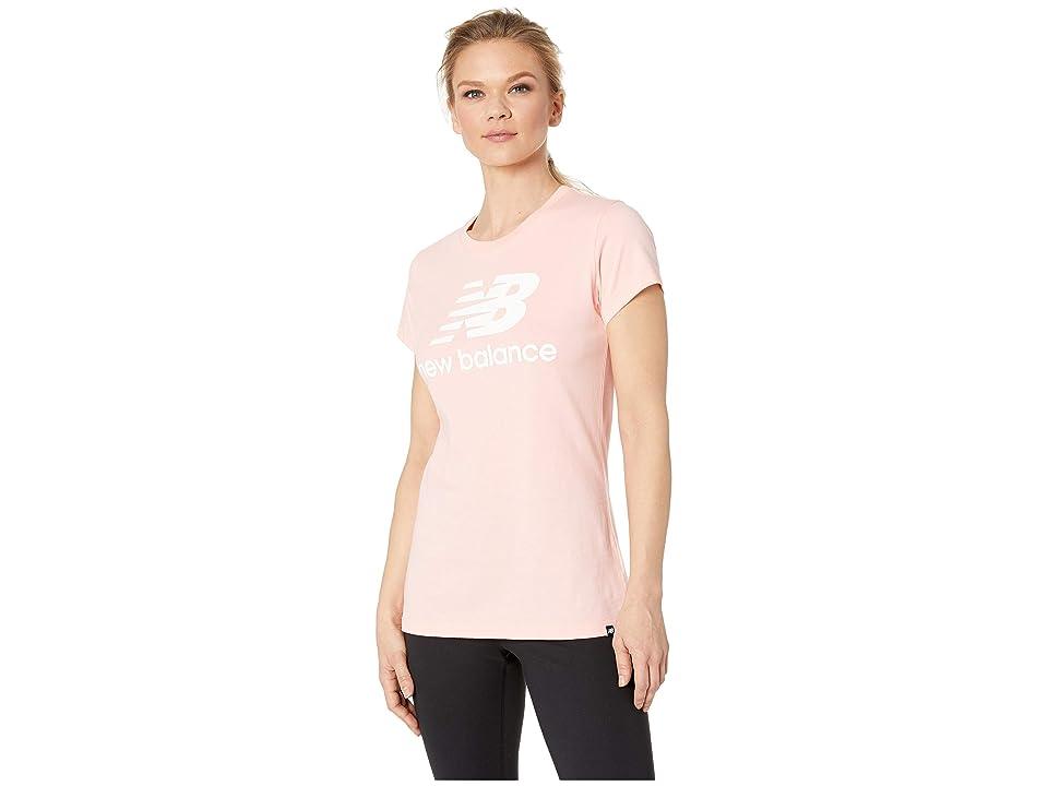 New Balance Essentials Logo Tee (Himalayan Pink/White/Smoke Blue) Women
