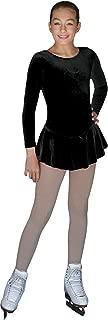 DLV627 - L/S Solid Velvet Practice Dress