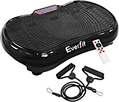 Everfit Vibration Machine Platform Plate Exercise Body Shaper Slimmer Power Fit Vibrating Fitness Black Oscillating...