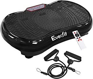 Everfit Vibration Machine Platform Plate Exercise Body Shaper Slimmer Power Fit Vibrating Fitness Black Oscillating Straps...