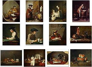 Wish Pub - Juego de impresiones artísticas sin marco de Jean Baptiste Simeon Chardin