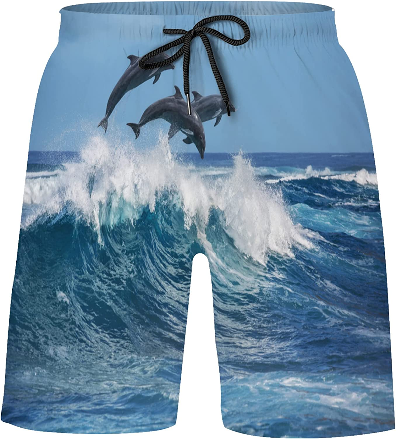 Beautiful Dolphins Jumped Super Special Minneapolis Mall SALE held Over The Suits Bathing Waves Breaking