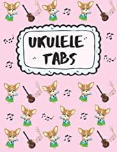 Ukulele Tabs: Get Your Uke on: Write Down Your own Ukulele Music!   Pretty Red Blank Sheet Music Paper Tablature for Ukulele with Yellow & Blue ... Notebook: Learn How to Play Ukulele Songs