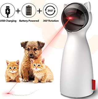 goopow Cat Toy Automatic, Interactive Laser Toy for Kitten Dogs-USB Charging/Battery..