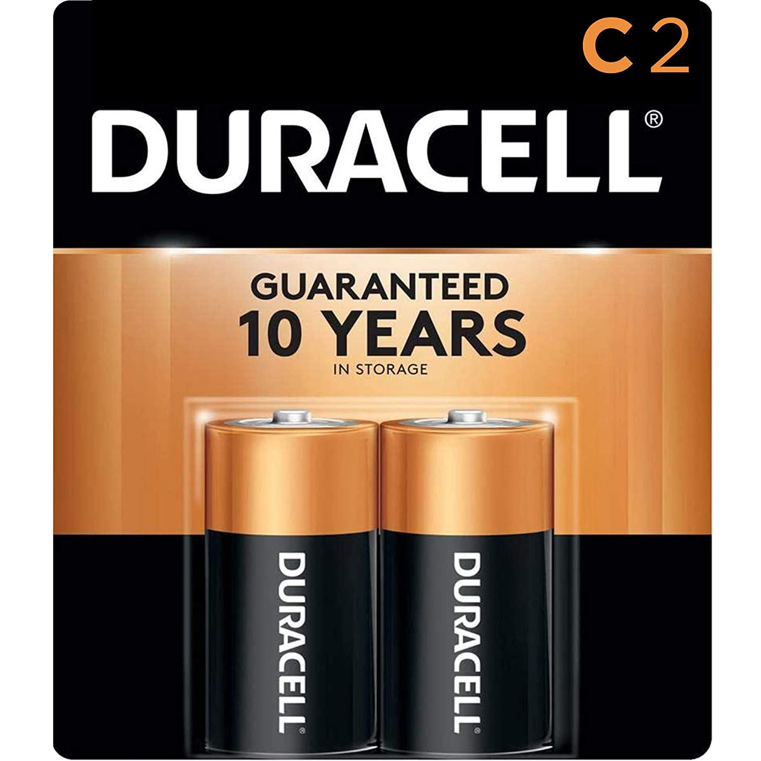 Amazon Com Duracell Coppertop C Alkaline Batteries With Recloseable Package Long Lasting All Purpose C Battery For Household And Business 2 Count Electronics