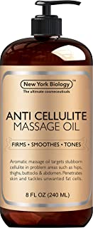 New York Biology Anti Cellulite Treatment Massage Oil - All Natural Ingredients – Infused with High Quality Essential Oils...