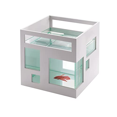 Umbra FishHotel Mini Aquarium, Great for Goldfish, Bettas, and Other Small Fish,