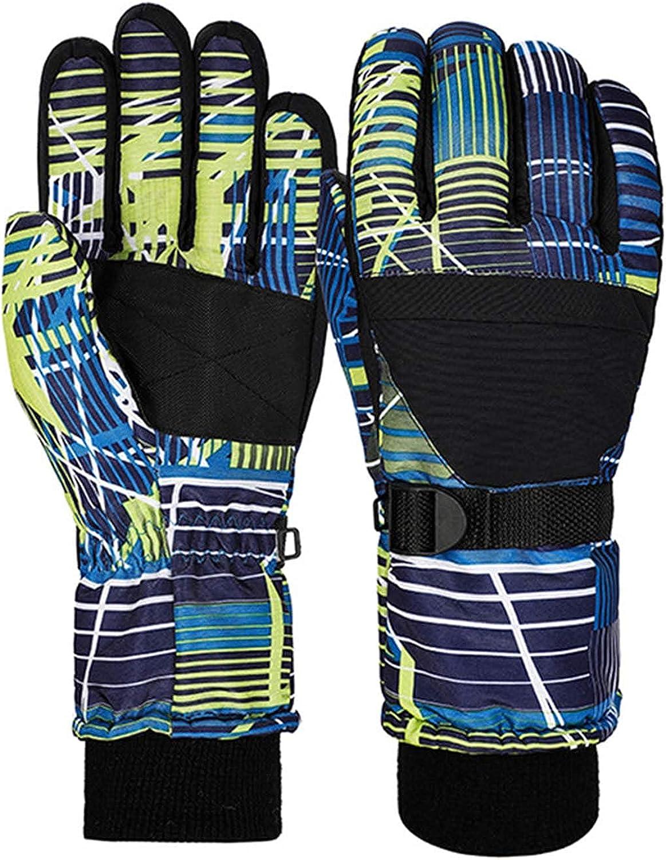 Komopesu Kids Children Full Finger Mittens, Winter Warm Windproof Waterproof Outdoor Sports Ski Gloves ( Black )