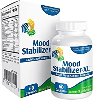 Mood Stabilizer-XL: Mood Support Supplement Enhancer - Vitamins - Complex - Natural Mood Health Supplements - 60 Capsules - Herbal Formula with 5-HTP