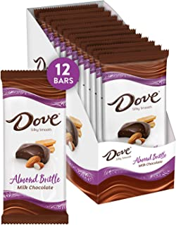Dove Milk Chocolate Almond Brittle Bars, 3.3 Ounce (Pack of 12)